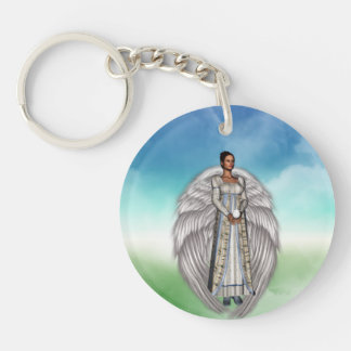 Isabella in the Clouds Key Ring
