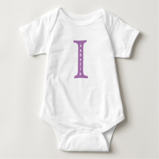 Isabella Personalized Baby One Piece tshirt Purple
