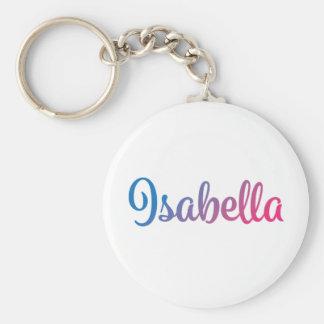 Isabella Stylish Cursive Key Ring