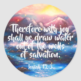 Isaiah 12:3 | Christian Scripture Stickers