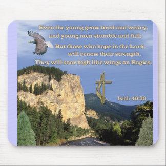 Isaiah 40:30-31 mouse pad