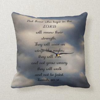 Isaiah 40:31 Custom Christian Bible Verse Gift Cushion