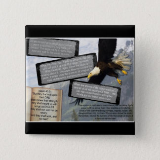 ISAIAH 40:31 MOUNT UP WITH WINGS AS EAGLES 15 CM SQUARE BADGE