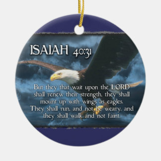 Isaiah 40:31 ORNAMENT - BIBLE VERSE Eagle Wings