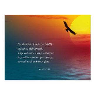 Isaiah 40:31 Verse Bible Lord Eagle soaring Postcard