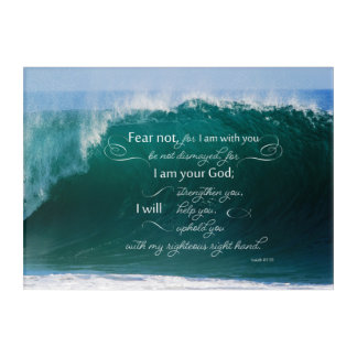 Isaiah 41 10 Bible Verse Acrylic Wall Art