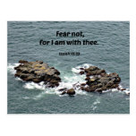 Isaiah 41:10 Fear not, for I am with thee. Postcard