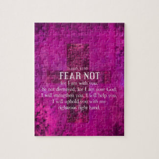 Isaiah 41:10 Fear not, for I am with you Jigsaw Puzzle