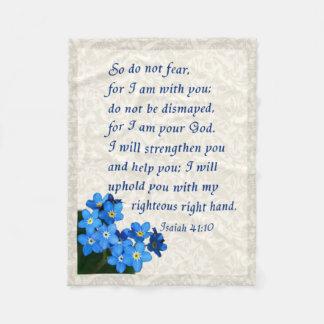 Isaiah 41:10 fleece blanket