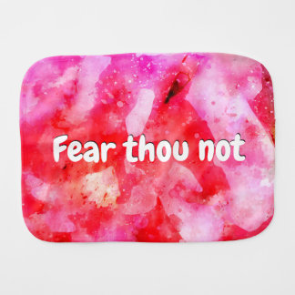 Isaiah 41 10 I Will Strengthen Burp Cloth