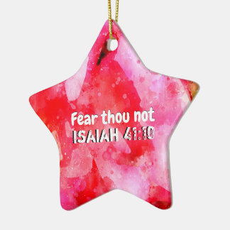 Isaiah 41 10 I Will Strengthen Ceramic Ornament