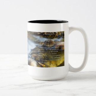 Isaiah 43:2- 3 Two-Tone coffee mug