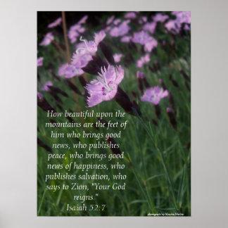 Isaiah 52:7 poster