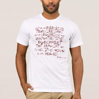 Isaiah 53.5 bible verse t-shirt
