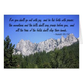 Isaiah 55:12 - Card & Envelope