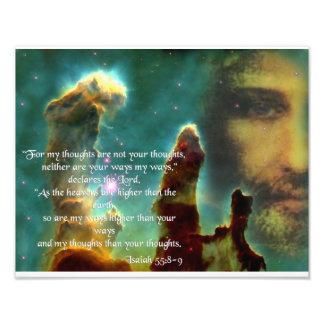 ISAIAH 55, 8-9 PHOTO PRINT