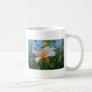 Isaiah 60:1 Peach Lily Coffee Mug