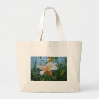 Isaiah 60:1 Peach Lily Large Tote Bag