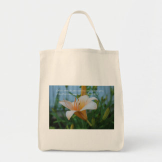 Isaiah 60:1 Peach Lily Tote Bag