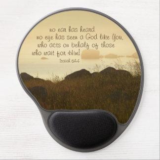 Isaiah 64:4 Bible Verse Beautiful Ocean Shorline Gel Mouse Pad