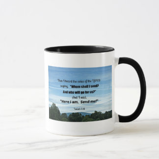 Isaiah 6:8 Then I heard the voice of the Lord Mug