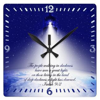 Isaiah 9:2 Christmas Square Wall Clock