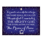 Isaiah 9:6 For Unto Us A Child Is Born Postcard