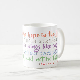 Isaiah Scripture Soar on Wings Like Eagles Mug