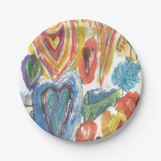 Isaiah's Heart Art Paper Plate