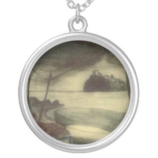 Ischia Castle Painting Necklace
