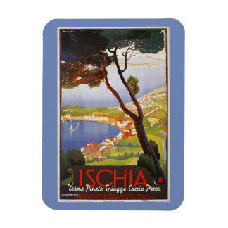 Ischia Island Italy summer travel ad Magnet