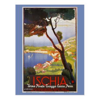Ischia Island Italy summer travel ad Postcard