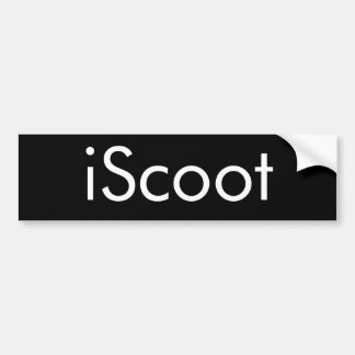 iScoot Giant Sticker Bumper Sticker