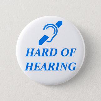 ISD Hard of Hearing, Blue on White 6 Cm Round Badge