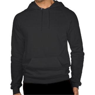 ISF white silhouette logo Hooded Sweatshirt