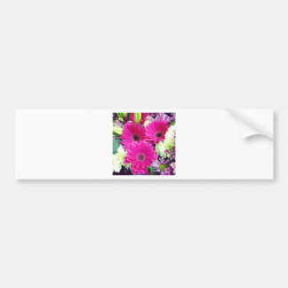 Ishah Pink Floral Photography Bumper Sticker