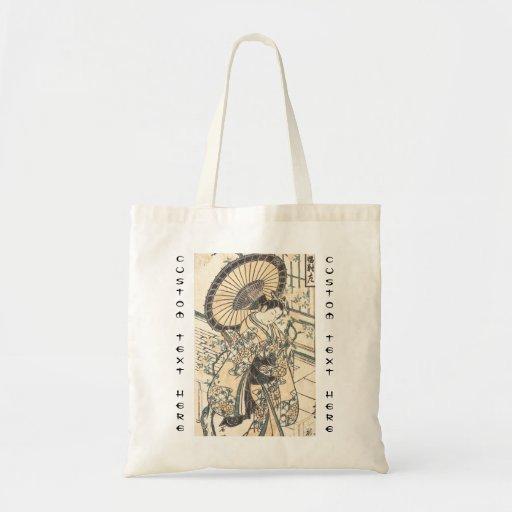 Ishikawa Toyonobu Young Lady with Parasol Canvas Bags