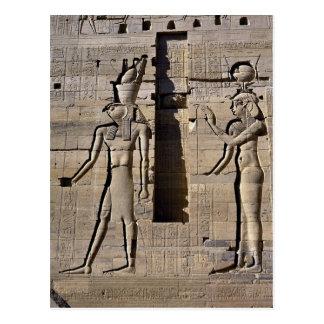 Isis and Horus, Egypt Postcard
