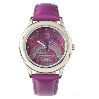 ISIS, Antique Egyptian Goddess  Purple White Watch