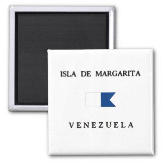 Isla de Margarita Venezuela Alpha Dive Flag Square Magnet