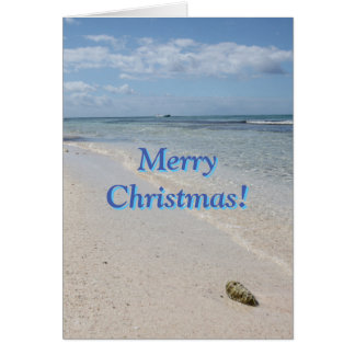 Isla Saona Caribbean Beach Merry Christmas! Card