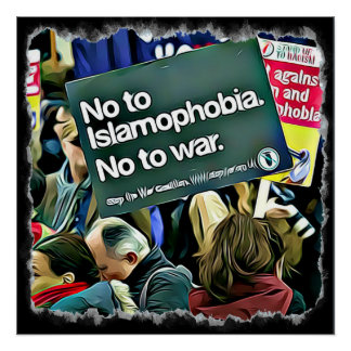 Islam Discrimination Protest Sign Poster