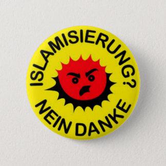 Islam, hate, islamisation, 6 cm round badge