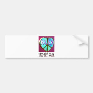 Islam is peace & love & happiness bumper stickers