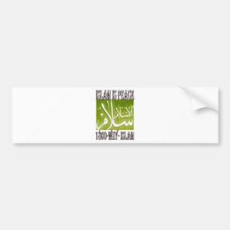 Islam is peace & love & happiness . ISLAM t shirt. Bumper Sticker