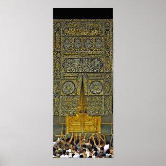Islam Islamic Muslim Arabic Calligraphy Hajj Kaaba Poster