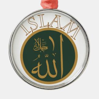 Islam Silver-Colored Round Decoration