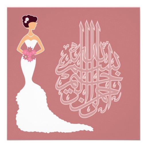 Islam wedding bachelorette marriage white bride announcement