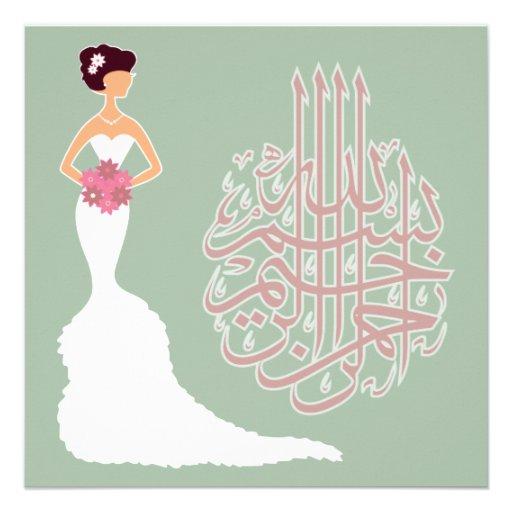 Islam wedding bachelorette marriage white bride announcements