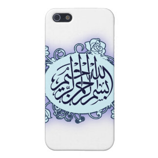 Islamic Arabic Bismillah Calligraphy flower print iPhone 5 Covers